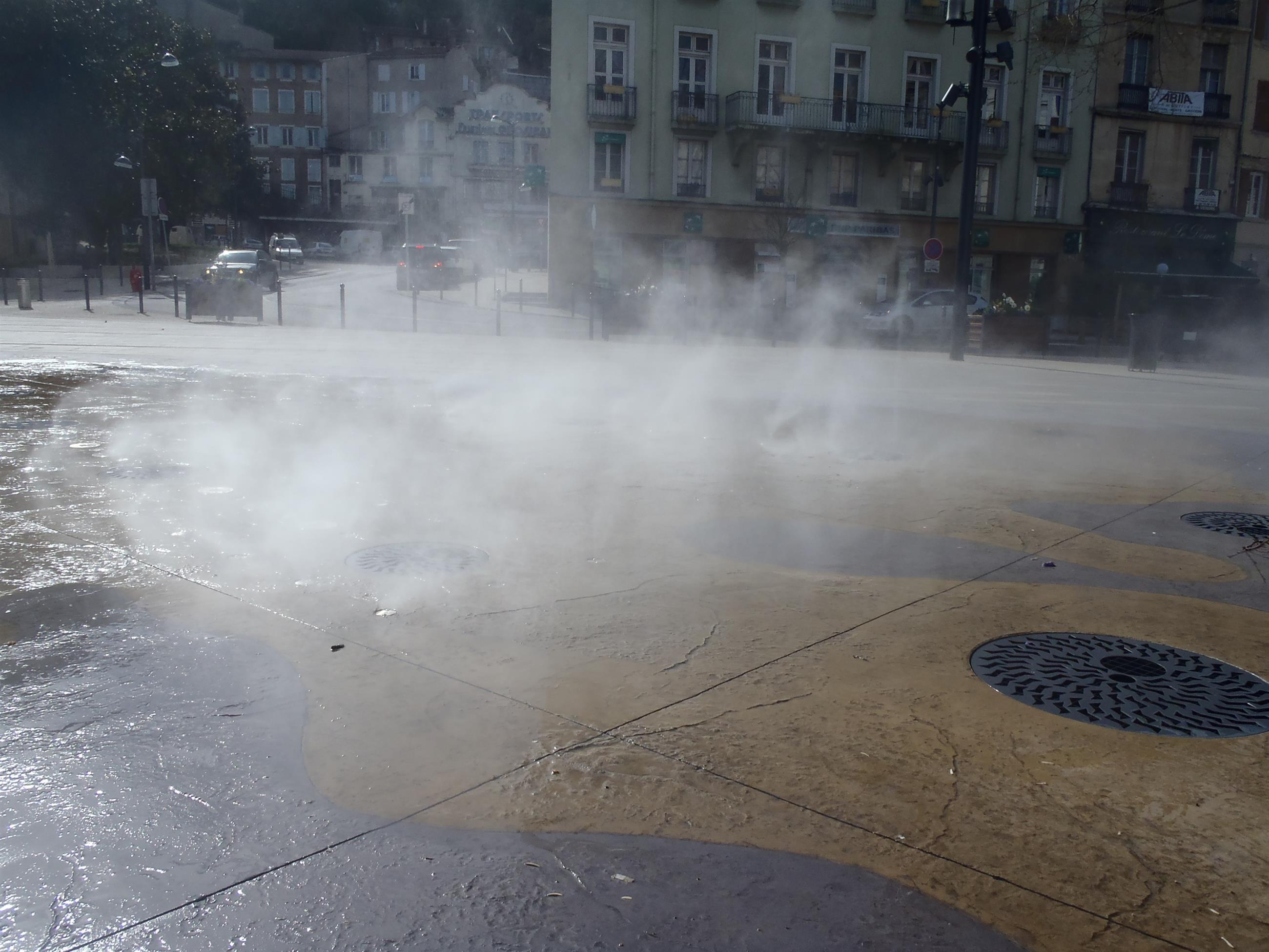 Zones de brouillard pour une ambiance mystérieuse et rafraîchissante