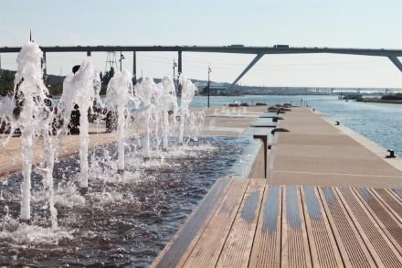 Ville de Martigues France - La Pointe San Crist, Buffet d'eau