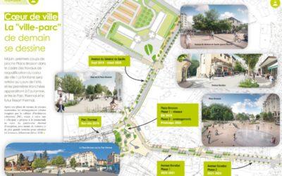 Démarrage des travaux de la place Brosson et du coeur de ville de Chatel Guyon