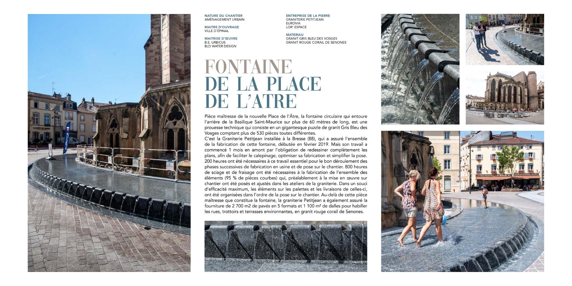Prix Spécial du Jury : Fontaine de la Place de l'Atre à Epinal