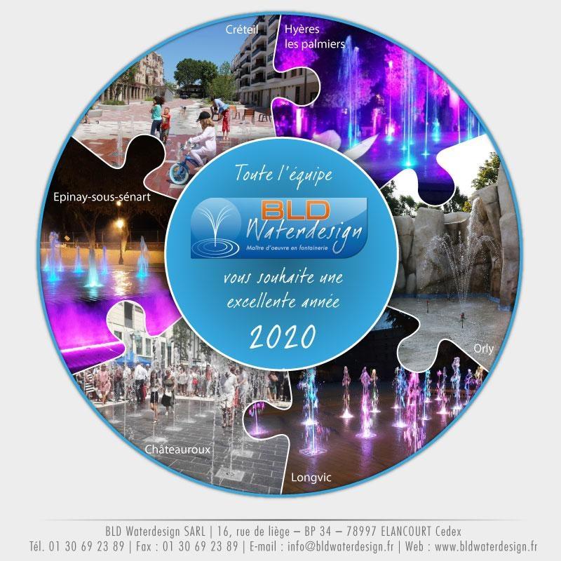 Meilleur voeux de BLDWaterdesign, maître d'oeuvre en fontainerie France